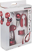 Набор барных аксессуаров Fackelmann Valentine's Day штопор, нож, кольцо, пробка, (49739)
