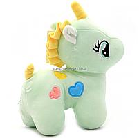 М'яка іграшка «Поні» - єдиноріг (світлові ефекти) м'ятний 25х9х20 см (M064), фото 2
