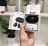 Навушники Samsung Galaxy нирки золото Plus вакуумні бездротові з мікрофоном (Lux copy), фото 2