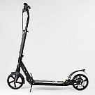 Самокат двухколесный Best Scooter с дисковым тормозом и амортизаторами (Черный с золотым), фото 3