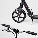 Самокат двухколесный Best Scooter с дисковым тормозом и амортизаторами (Черный с золотым), фото 4