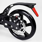Самокат двухколесный Best Scooter с дисковым тормозом и амортизаторами (Черный с золотым), фото 5