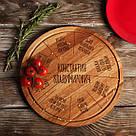 "Доска для нарезки ""Пицца на желание"" персонализированная 35 см, фото 5"