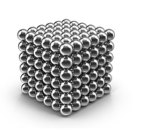 Неокуб Neocube 216 шариков 5мм в металлическом боксе серебристый Original Silver Neocube (258)