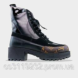 Женские зимние ботинки LV Boots Black (черные)