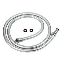 """Шланг для душу 1/2"""" PVC 3-х шаровий сріблястий 150см TAU XB-0483 (9891661)"""