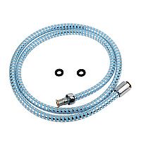 """Шланг для душу 1/2"""" PVC 2-х шаровий синій 150см TAU XB-1483 (9891671)"""