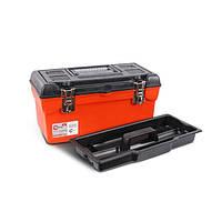 """Скринька для інструментів з металевими замками 16"""" 396x216x164 мм INTERTOOL BX-1116"""