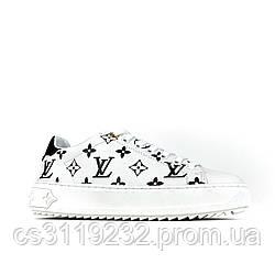 Женские кроссовки Louis Vuitton Sneakers White Black (белые)