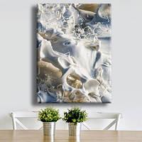 Картина на холсте Milk 45 см на 60 см ручная работа сосновый подрамник