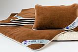 Комплект HILZER (CAMEL) - Односпальний - Вовна/Вовна: Ковдра 140х200 + Наматрасник 100х200 + Подушка 40х60, фото 5