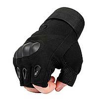 Перчатки без пальцев штурмовые тактические Oakley Черные (RL0179), фото 2