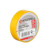 Стрічка ізоляційна 0.15 мм*17мм*10м жовта INTERTOOL IT-0032