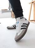 Кроссовки мужские Adidas Samba Адидас Самба кросівки чоловічі (41,42,43,44,45), фото 5