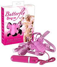 Кліторальний стимулятор - Butterfly Strap On