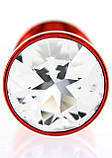 Анальная пробка со стразой Diogol ANNI round red 30мм, фото 3