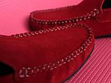 Червоні чоловічі мокасини, фото 2