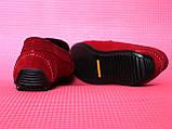 Червоні чоловічі мокасини, фото 3