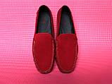 Червоні чоловічі мокасини, фото 4