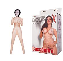 Надувна лялька Cassandra, брюнетка, TOYFA Dolls-X, з двома отворами, 160 см