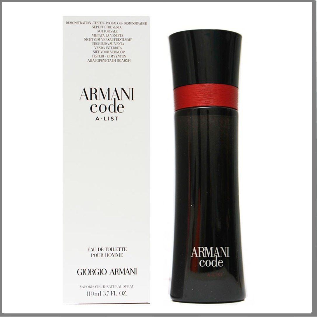 Giorgio Armani Code A-List туалетная вода 110 ml. (Тестер Джорджо Армани Код А-Лист)