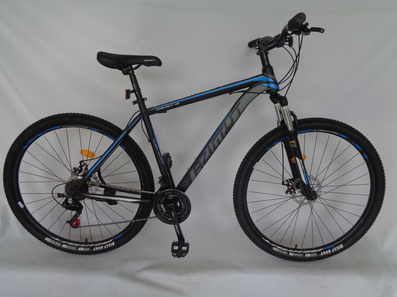 Спортивный горный велосипед 26 дюймов 17 рама Azimut 40D D черно-синий