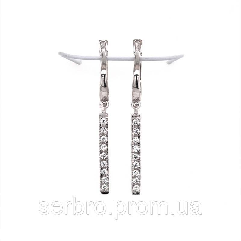 Довгі сережки з цирконом Тонкість