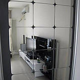 Набір акрилових дзеркал 6 шт 10×10 см × 1 мм срібло, фото 6