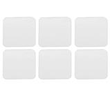 Набір акрилових дзеркал 6 шт 10×10 см × 1 мм срібло, фото 4