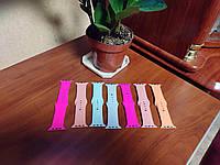 Ремешки силиконовые Apple Watch Band Sport 42-44 mm Begonia, Mint, Papaya,Marina green, Neon Pink