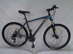 Спортивный горный велосипед 29 дюймов Azimut 40D Shimano GD 20 рама черно-синий