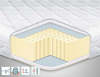 Тонкий матрас топпер-футон Eurosleep Стандарт Latex х3 с фиксаторами по углам и сьемным чехлом