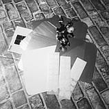 Набір акрилових дзеркал 6 шт 10×10 см × 1 мм срібло, фото 2