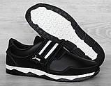 Кросівки чоловічі на липучку чорні демісезонні (КФ-36ч), фото 6
