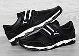 Кросівки чоловічі на липучку чорні демісезонні (КФ-36ч), фото 7