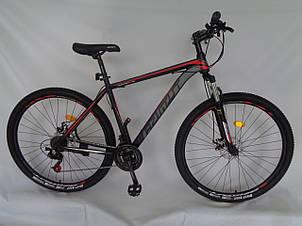 Спортивный горный велосипед 29 дюймов Azimut 40D рама 20 черно-красный