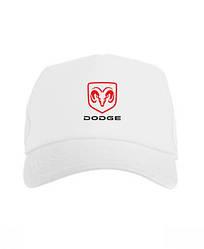 Спортивная кепка Dodge, Додж, тракер, летняя кепка, мужская, женская, белого цвета, копия