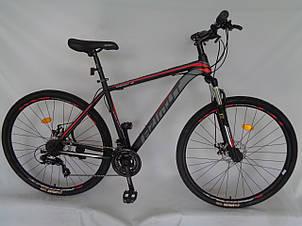 Спортивный горный велосипед 29 дюймов Azimut 40D рама 20 черно-красно-серый