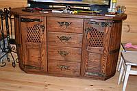 Комод бочка под старину с ковкой