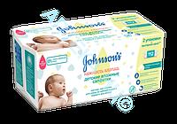 Влажные салфетки детские Johnson's Нежность хлопка 56 шт х 2