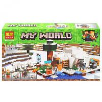"Конструктор ""My World: Майнкрафт. Домик для рыбалки"", 284 дет 10811"