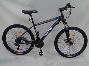 Спортивный горный велосипед 29 дюймов Azimut Aqua Shimano GD 19 рама черно-синий