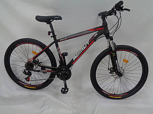 Спортивный горный велосипед 29 дюймов Azimut Aqua Shimano GD 19 рама черно-красный