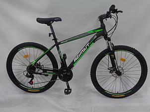 Спортивный горный велосипед 29 дюймов Azimut Aqua Shimano GD 19 рама черно-зеленый