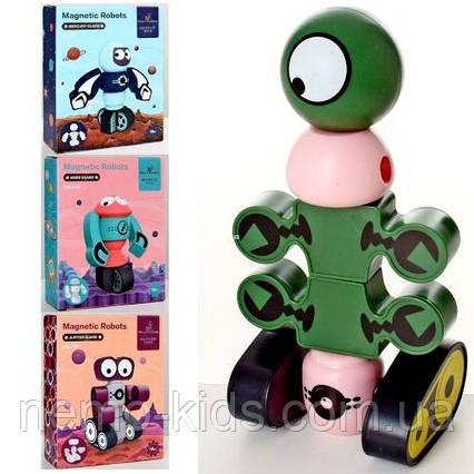Конструктор магнитный, робот на магните, развивающая игрушка.