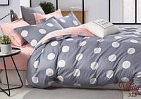 Комплект милого и качественного постельного белья семейка, шары серо-розовые