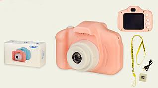 Дитячий цифровий фотоапарат для хлопчика або дівчинки з можливістю зйомки фото та відео, карта пам'яті 8 Gb.