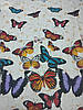 Постельное бельё Бязь GOLD Двуспальный с европростынью комплект ( бабочки на белом фоне), фото 2