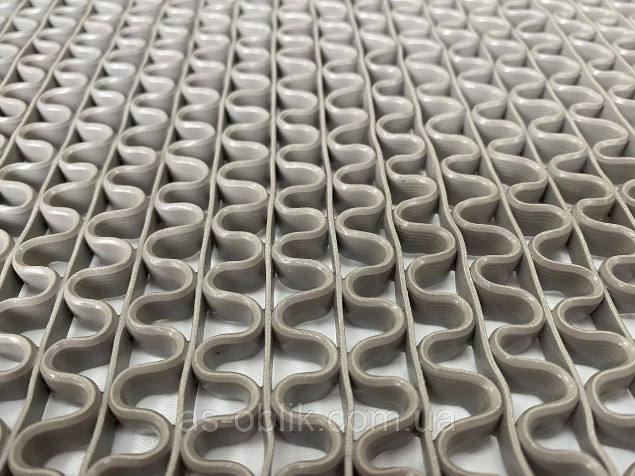 Ковер резиновый 120х46 см, серый