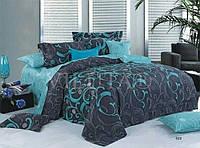 Комплект красивого и качественного постельного белья семейка, изумруд